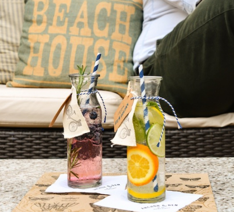 Recipe from our Beach House: Blueberry, Mint and Lemon Zest Soda